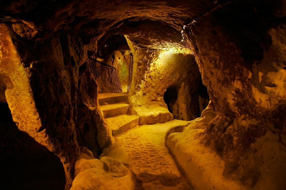 An underground city in Nevşehir.