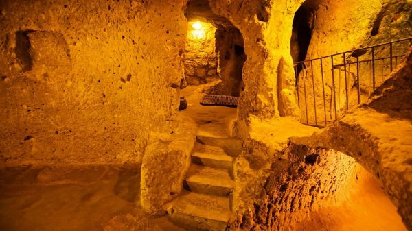 """[caption id=""""attachment_29378"""" align=""""aligncenter"""" width=""""1005""""] The underground city of Kaymakli. Image Credit: Shutterstock."""